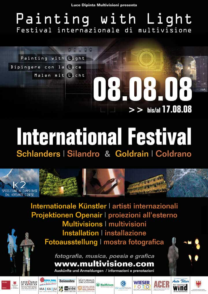 Painting with Light Festival 2008 poster