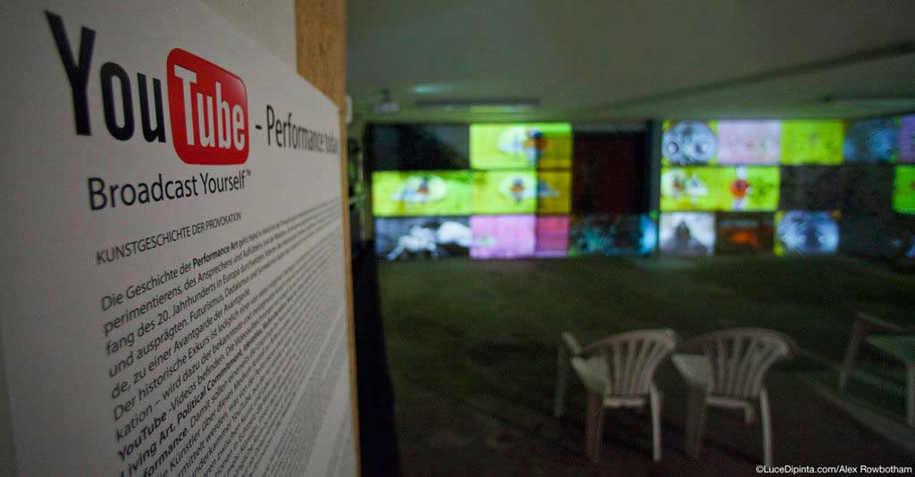 YouTube Performance Today exhibition at the Werkbank Lana