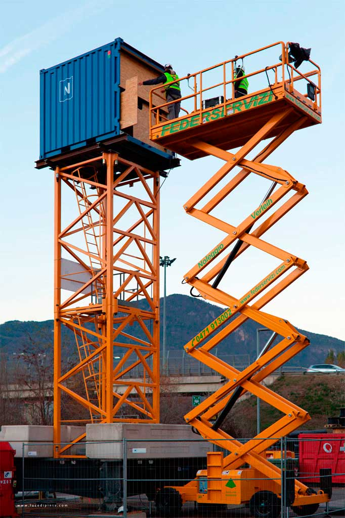 Projection Tower at TechnoAlpin